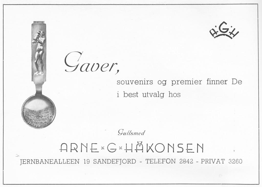 Bilde av Annonse for gullsmed  Håkonsen