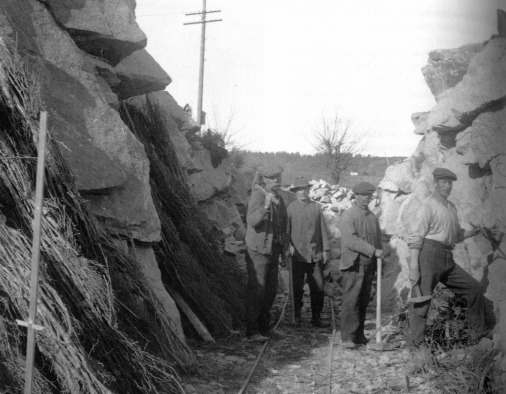 Bilde av Legging jernbanespor ved Sukkertoppen