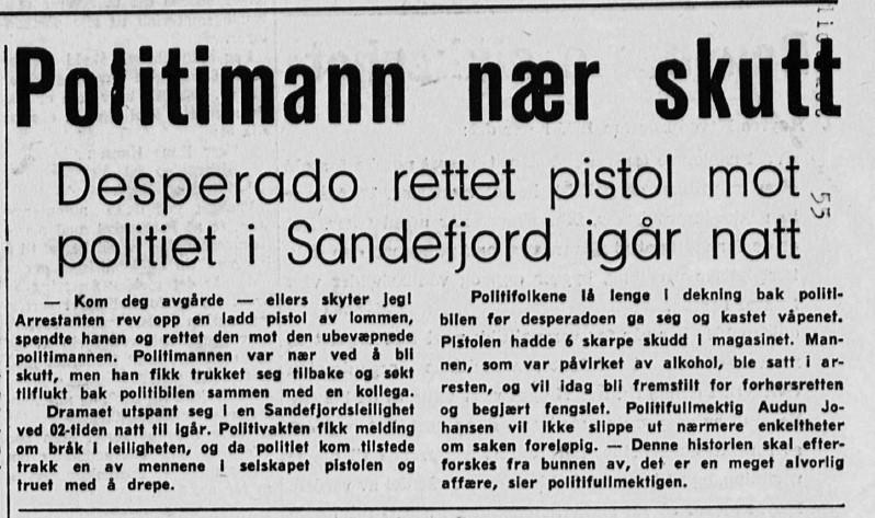 Bilde av Politimann næs skutt - 1968