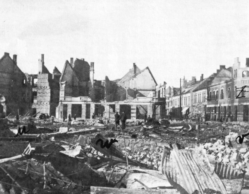 Bilde av Bybrannen  i 1915