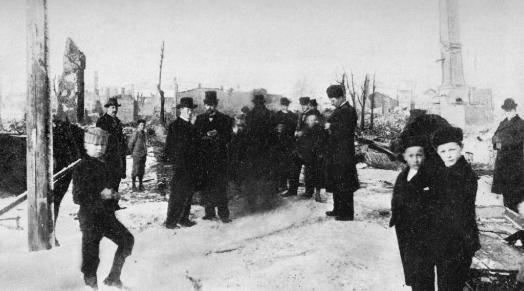 Bilde av Bybrannen 15.mars 1900