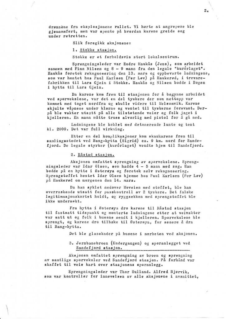 Bilde av Rapport fra Oddvar Midttun - side 2