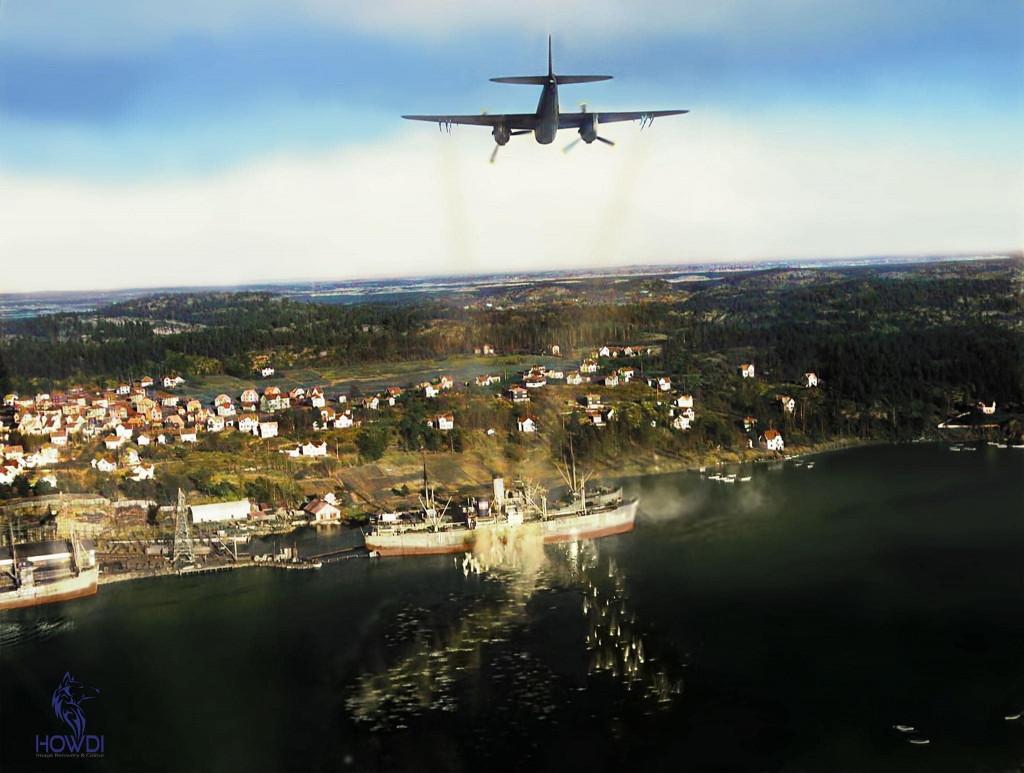 Bilde av Flyangrep 2.4.1945