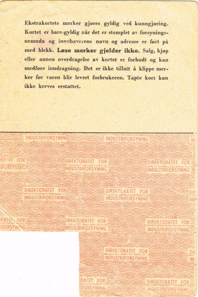 Bilde av Strømpekort, rasjoneringskort, side 2