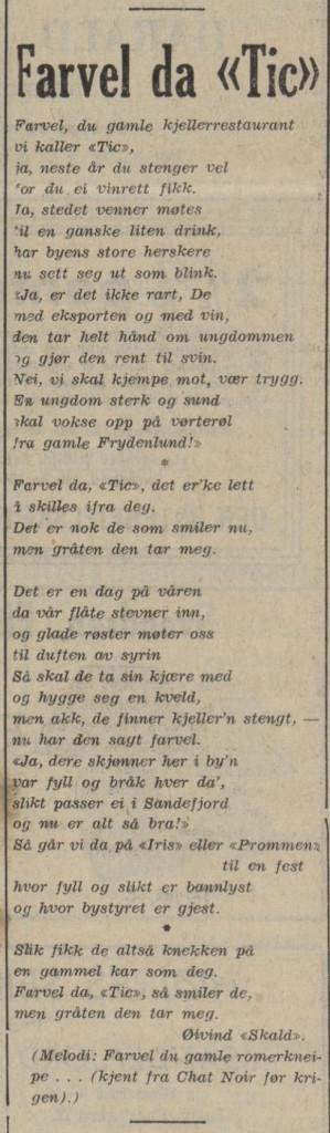 Bilde av Sang om Tic-Kjelleren - 1949