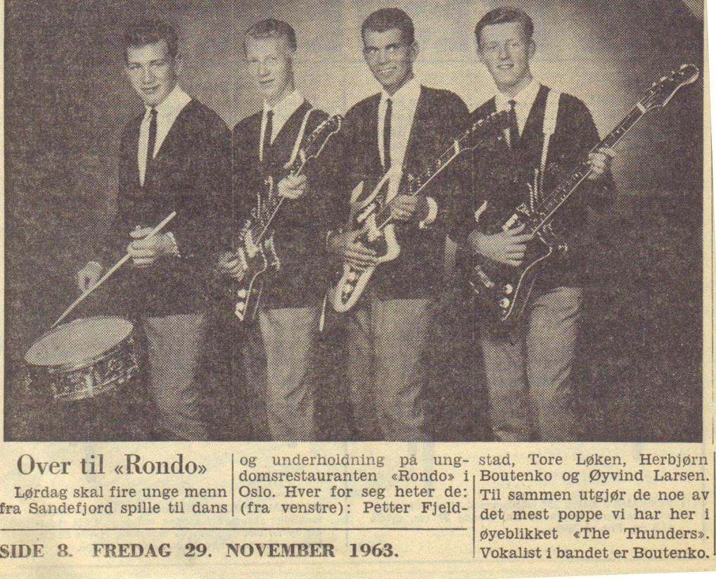Bilde av Spiller på Rondo i Oslo 1963