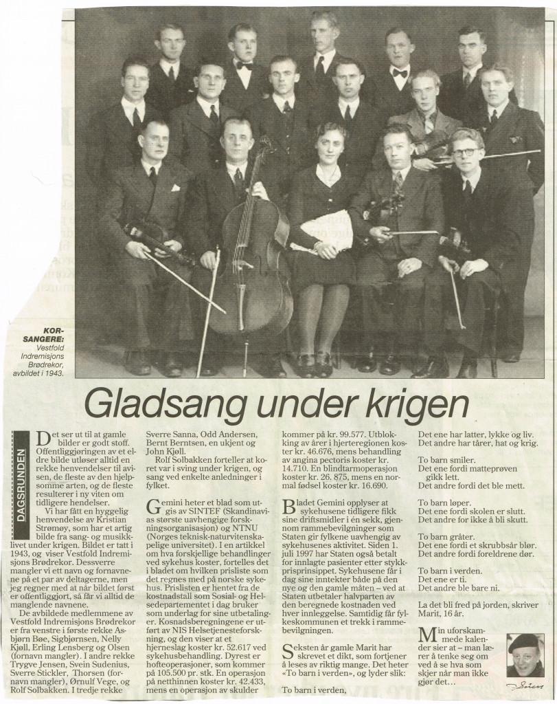 Bilde av Sang- og musikkliv under krigen