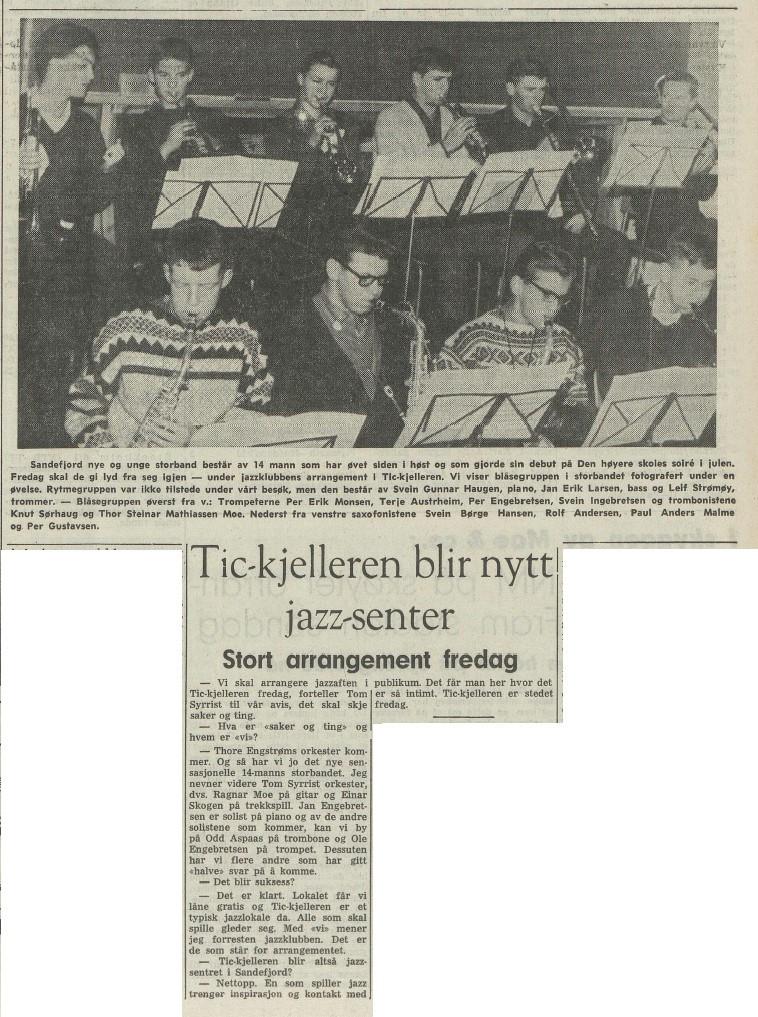 Bilde av Tic-kjelleren 1964