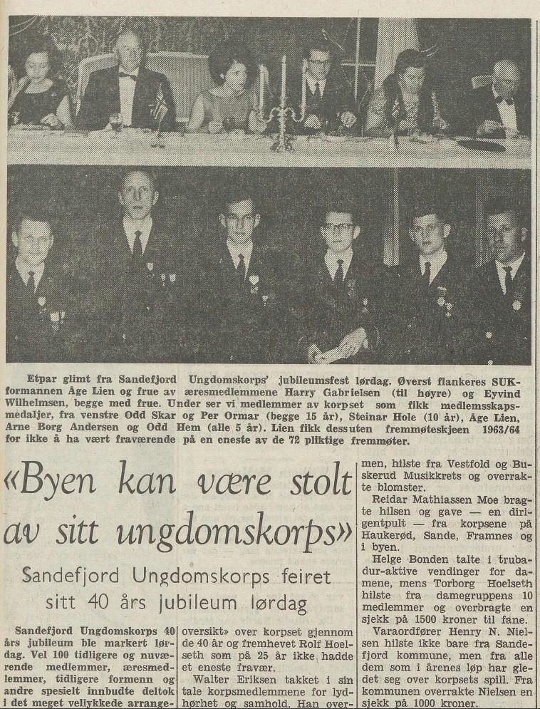 Bilde av Ungdomskorpset 40 år