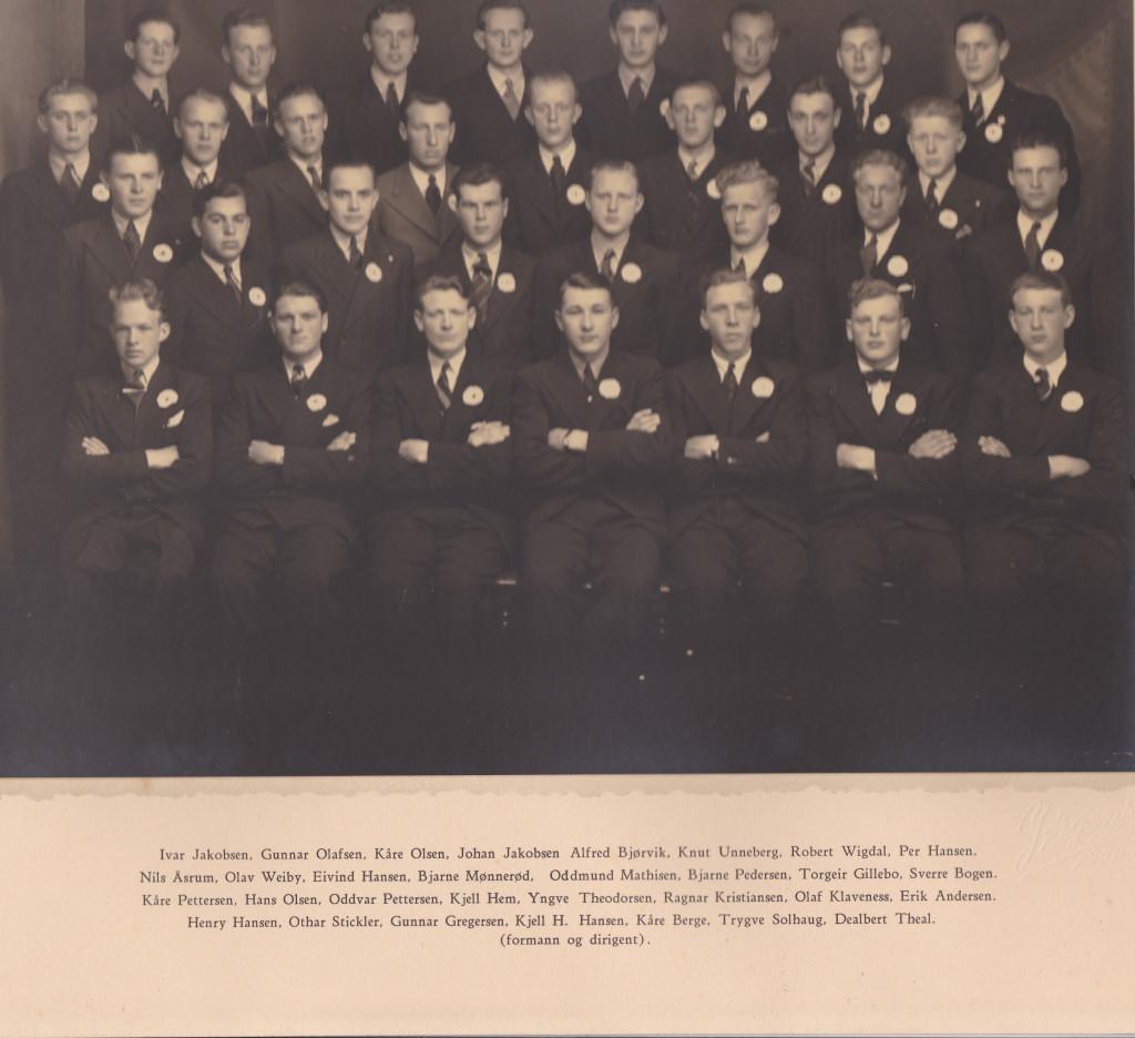 Bilde av Haukerød Sangkor 1942