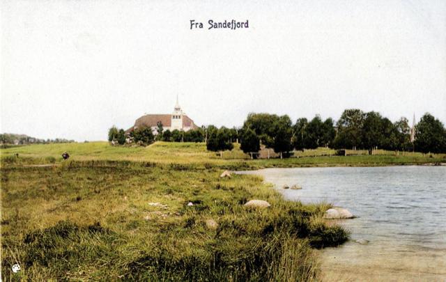 Bilde av Sandefjord Bad fra sør