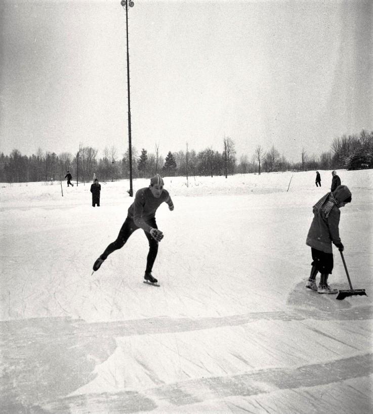 Bilde av Trening på skøyter på Storstadion
