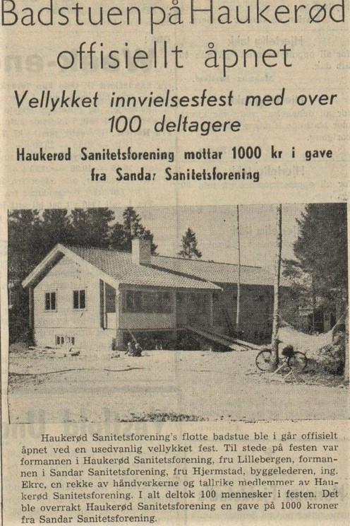 Bilde av HAUKERØD SANITETSFORENING - BADSTUA
