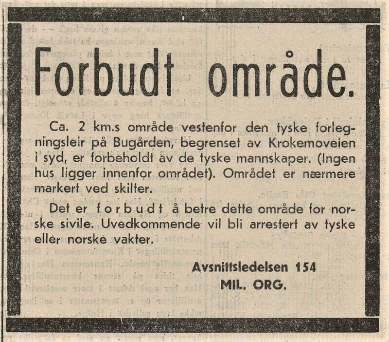Bilde av DEN TYSKE MILITÆRLEIREN I BUGÅRDEN