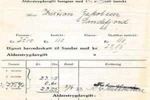 Bilde av Herredskatteseddel