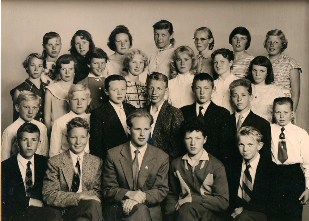 Bilde av 1958 - klasse 7A