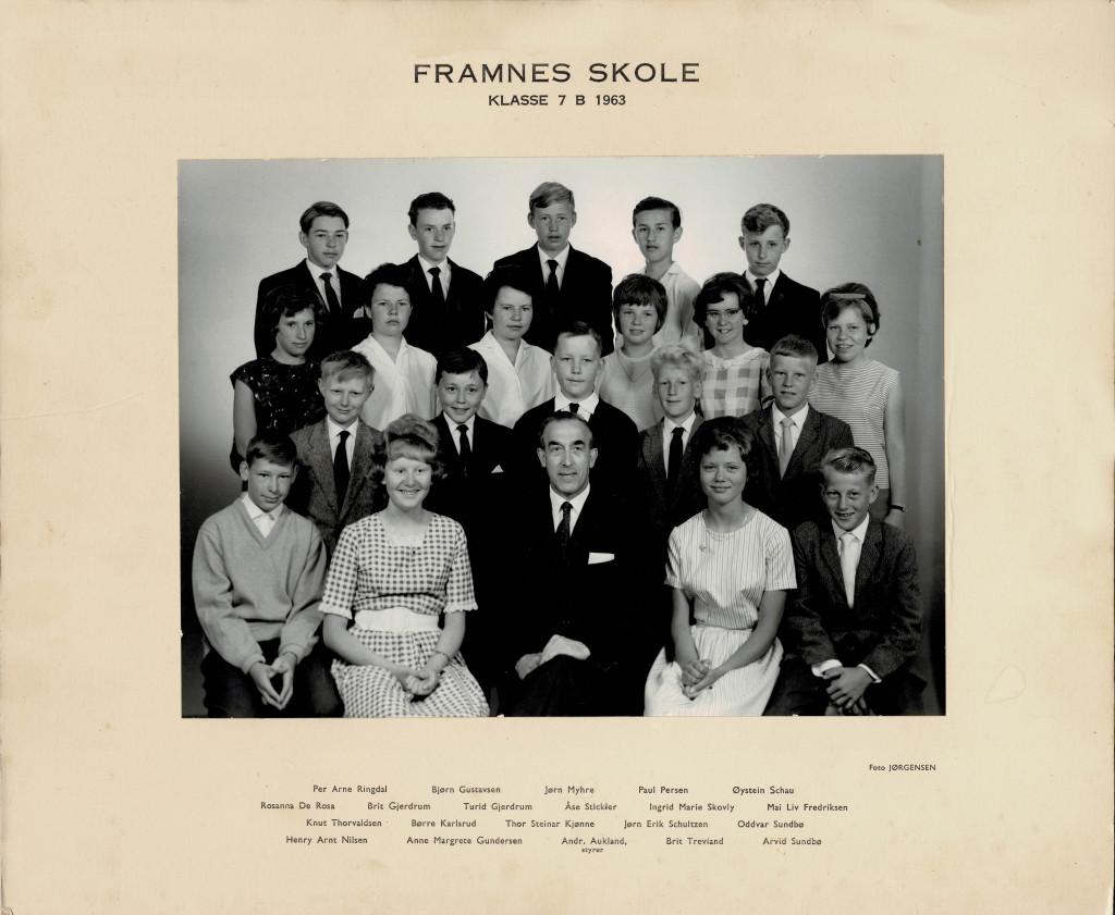 Bilde av Klasse 7 B 1963