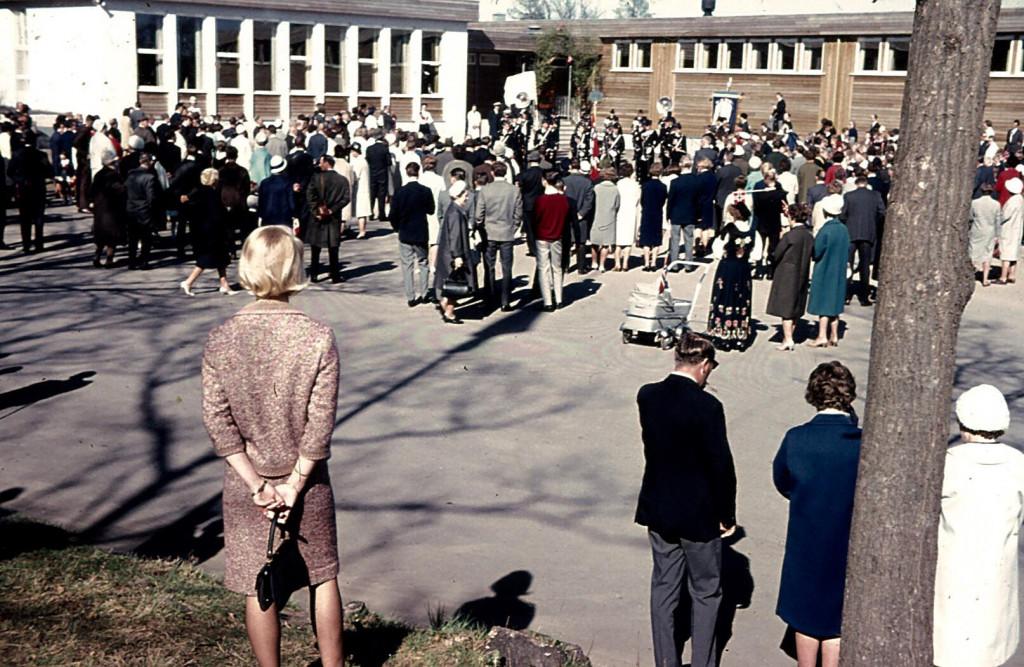 Bilde av Framnes skole 17. mai 1963