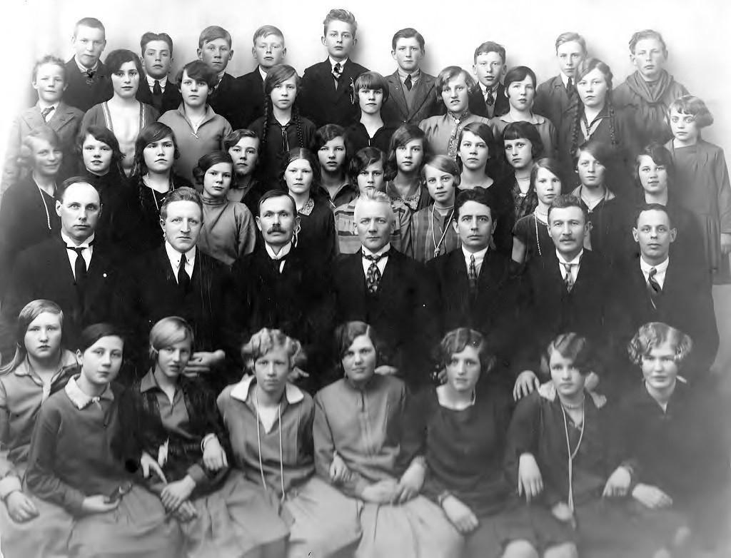 Bilde av Sandeherads Fortsettelses skole 1928 - 29