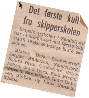 Bilde av Skipsførerskolen i Sandefjord.