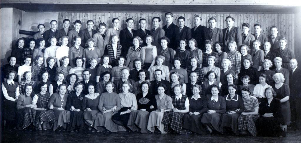 Bilde av Skiringssal Ungdomskole 1949-50