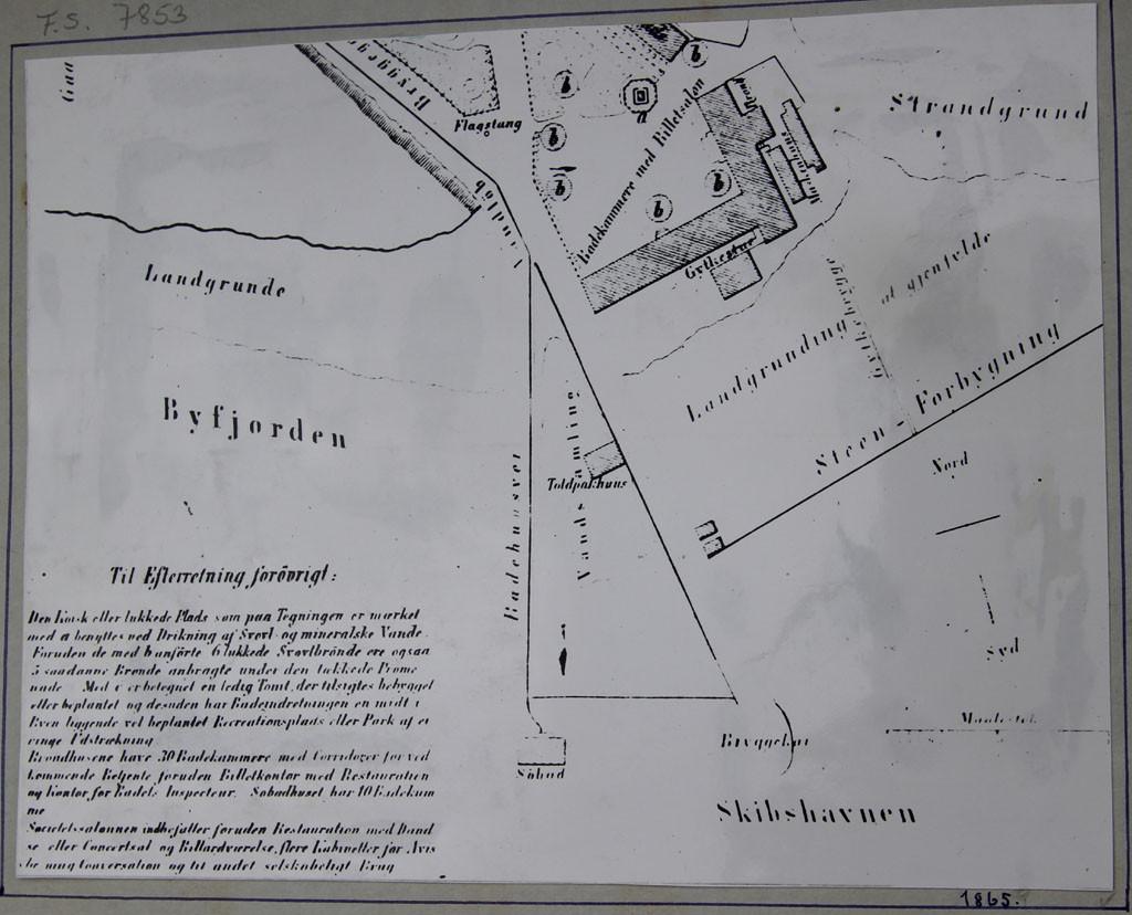 Bilde av Kart over Skipshavnen fra 1865