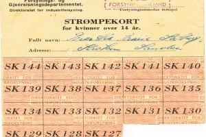 Bilde av Rasjoneringskort etter krigen