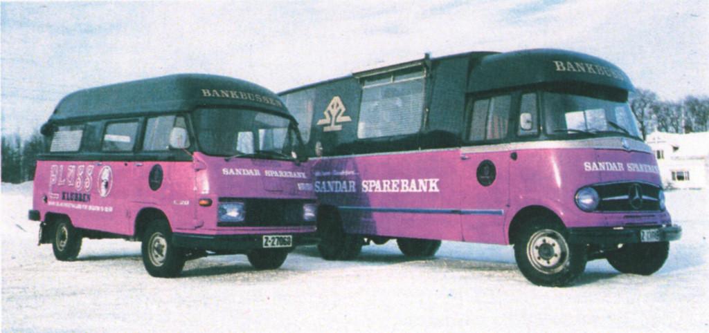Bilde av De første bankbusser