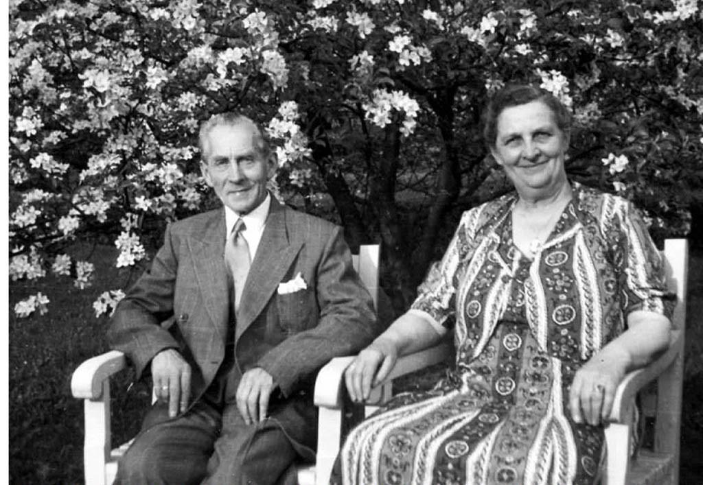 Bilde av Hilmar Larsen og Hansine Bertha Larsen, født Bergan
