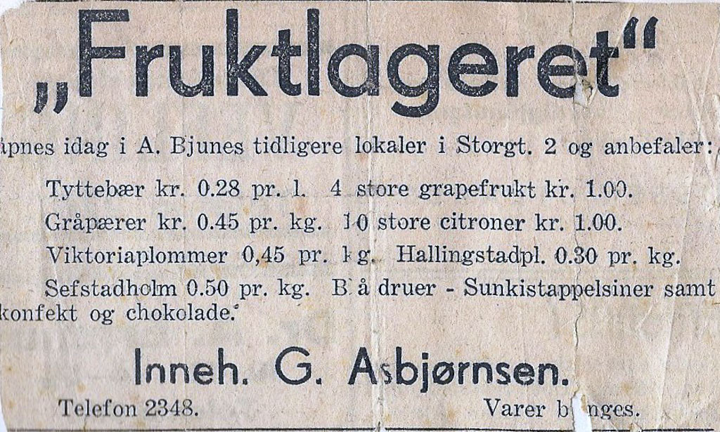 Bilde av Annonse 1935