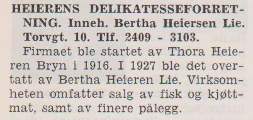 Bilde av Heierens Delikatesse - Torggata 10