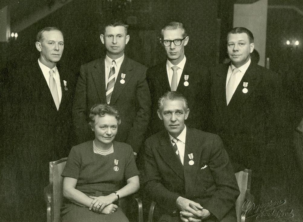 Bilde av Dekorerte medarbeidere 1961
