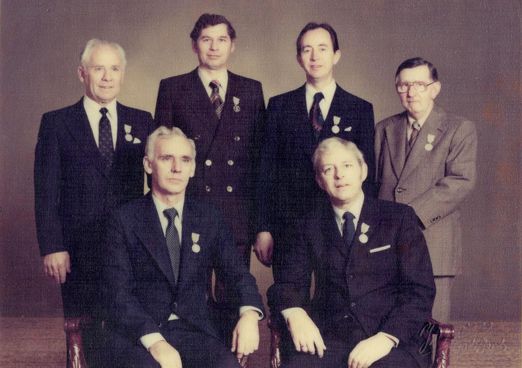 Bilde av Dekorerte medarbeidere 1980