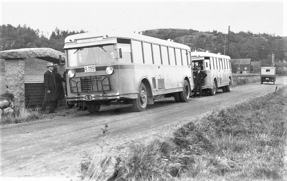 Bilde av Turbuss ved Gokstadhaugen