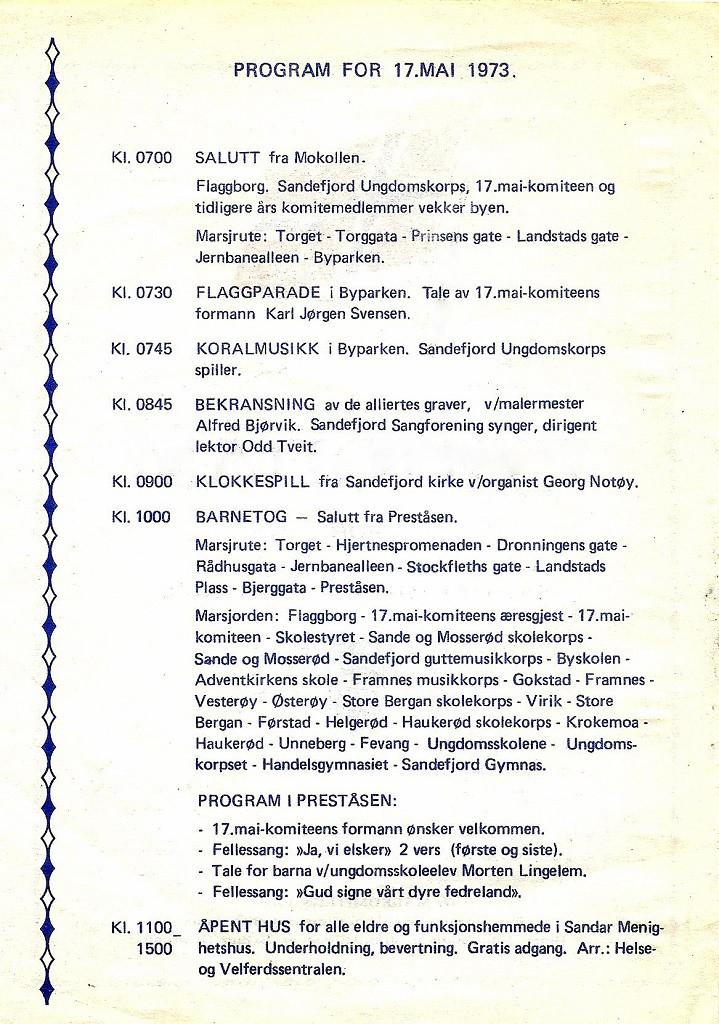 Bilde av Program 1973, side 2