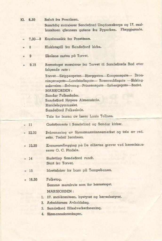 Bilde av Program 1946, side 2