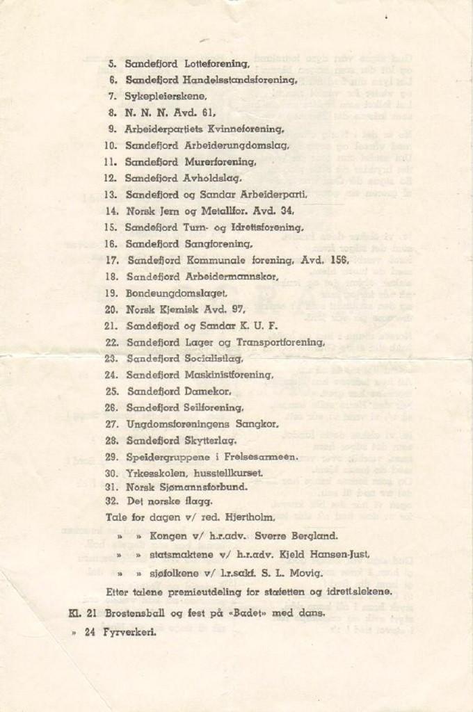 Bilde av Program 1946, side 3