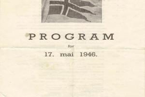 Bilde av 17. mai program