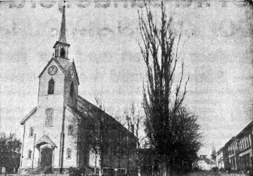 Bilde av Den første Sandefjord Kirke