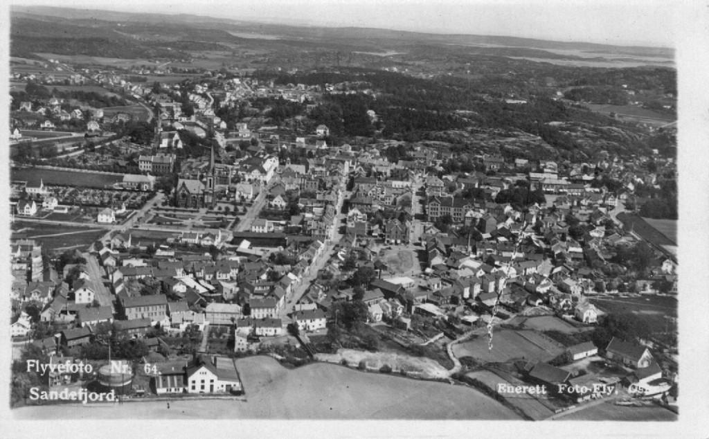Bilde av Byen fra vest