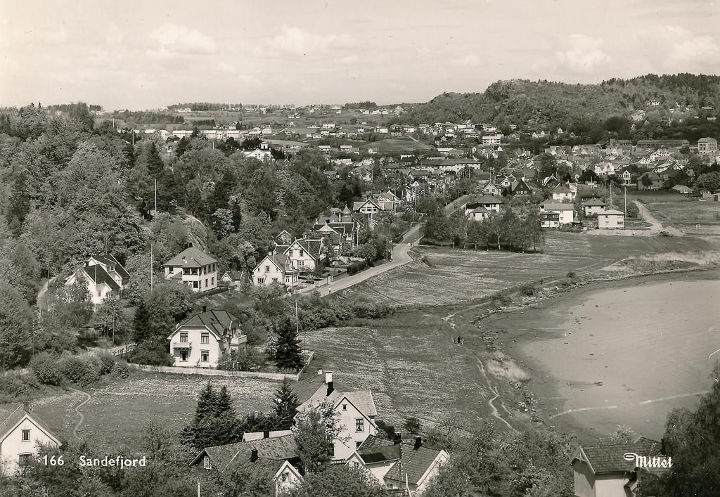 Bilde av Hystadveien fra syd