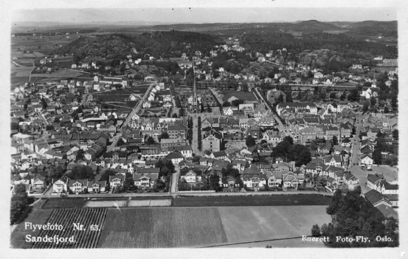 Bilde av Byen fra syd
