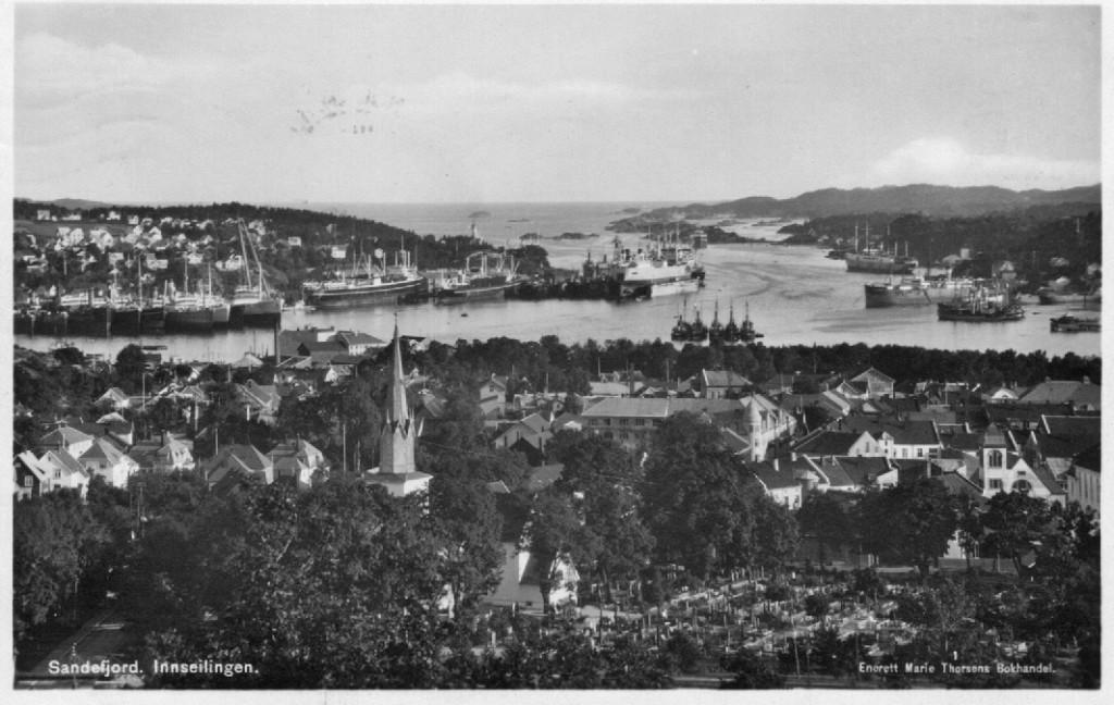 Bilde av Byen fra nord