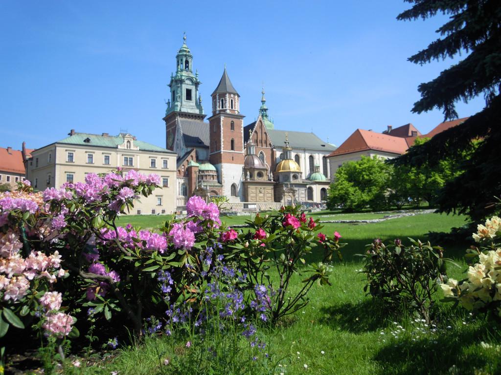 Bilde av Krakow Wavelkatedralen.