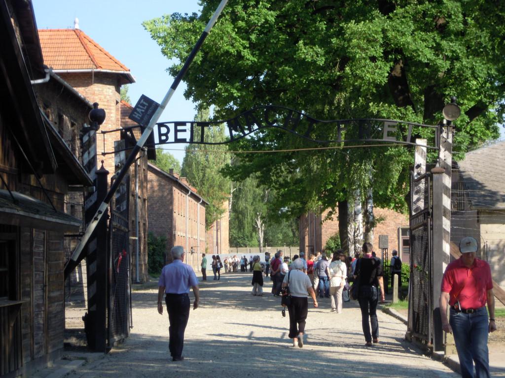 Bilde av Auschwitz Hoved porten.