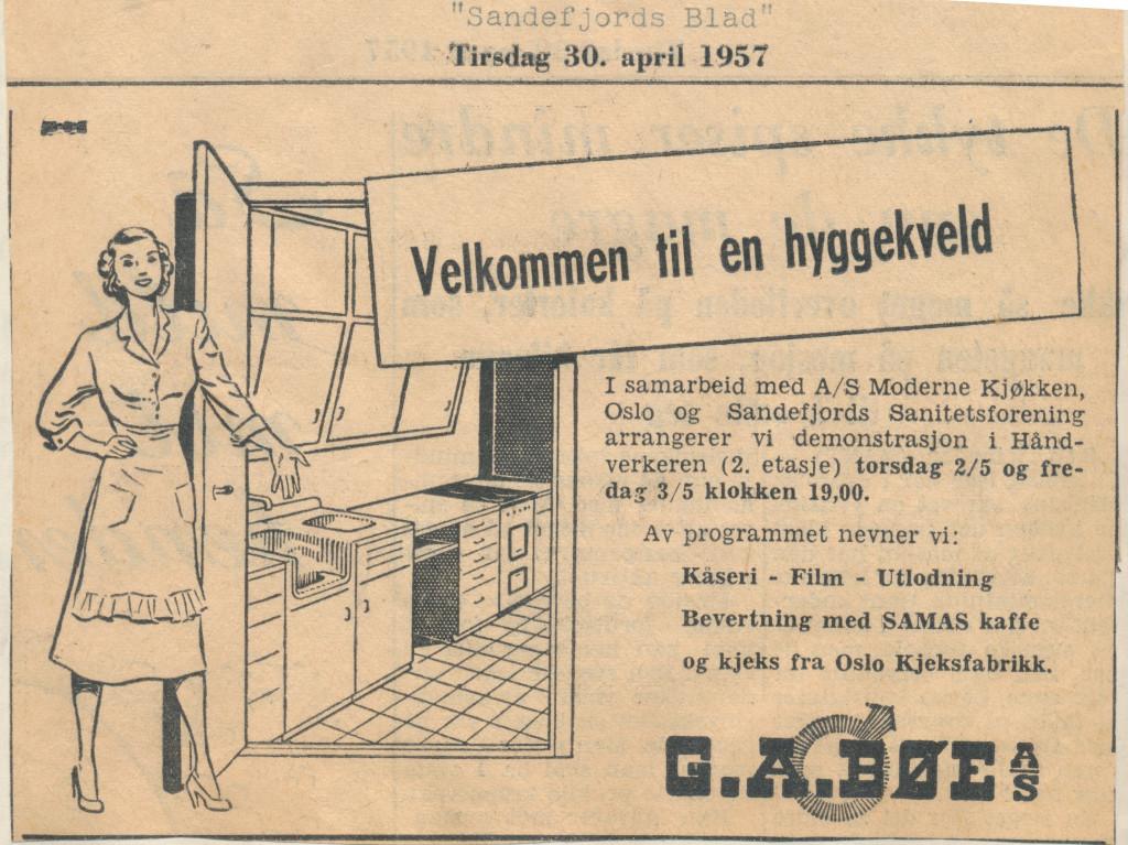 Bilde av Annonsen 1957