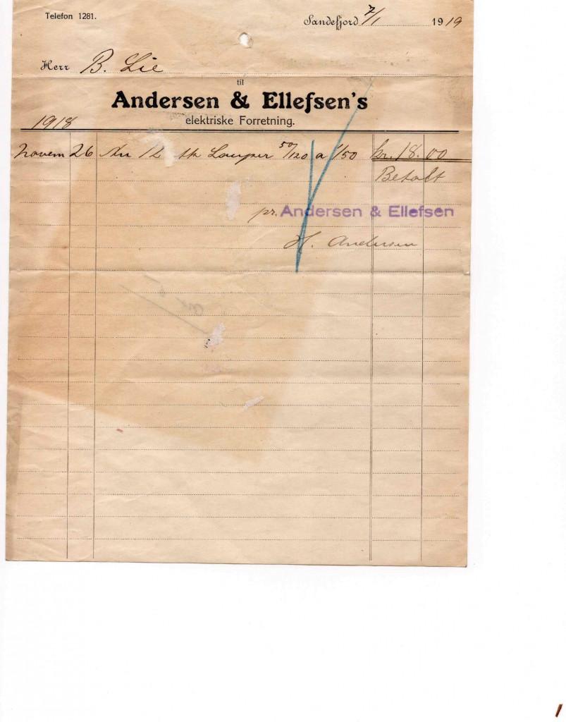 Bilde av Kvittering fra 1919