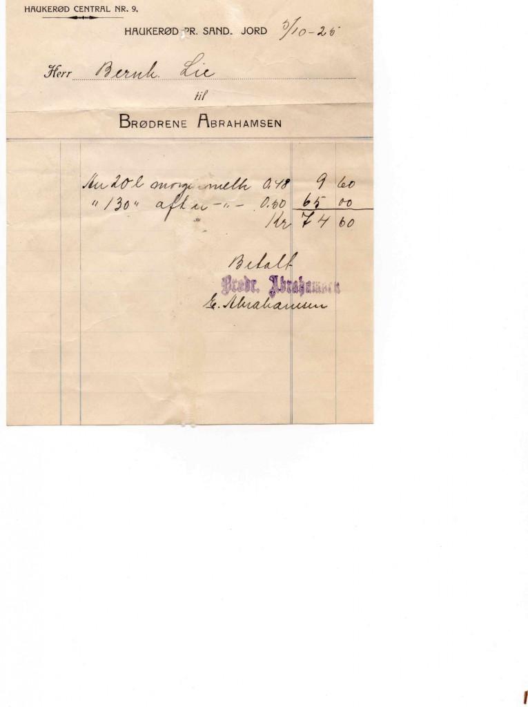 Bilde av Kvittering 1926