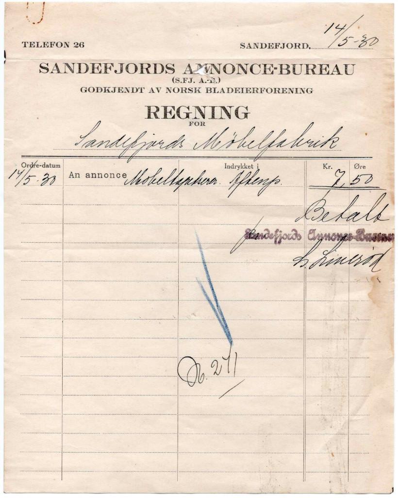 Bilde av Sandefjords Annonce-Bureau