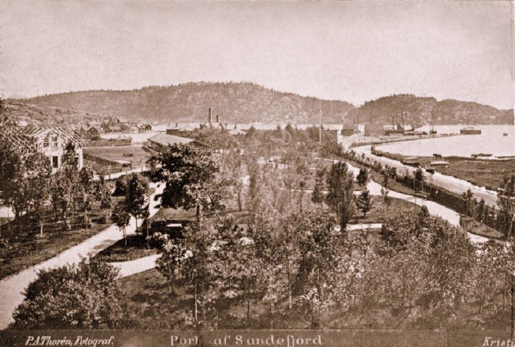 Bilde av Gammelt bilde av Badeparken, Ruklabekken og havna